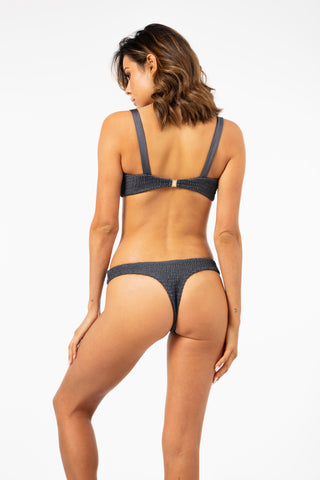 ALL THE FEELS: Azarah Bottoms Grey - LAHANA SWIM