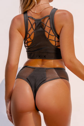 ALL THE FEELS: Safari Cheeky Bottoms in Black - CREATURES OF XIX