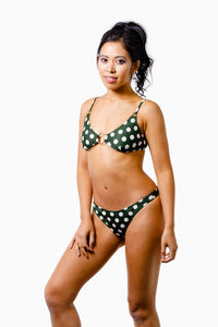 ALL THE FEELS: Lani Bikini Olive Polka - EASTNWEST