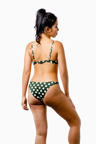 ALL THE FEELS: Paradise Bikini Olive Polka - EASTNWEST