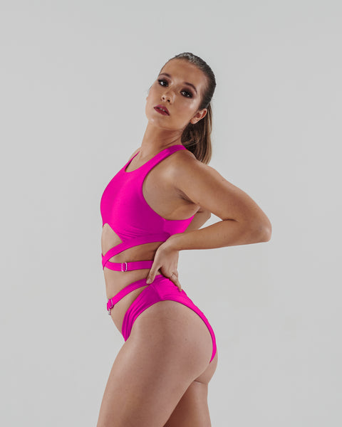 ALL THE FEELS: Ribelle Bottoms Neon Pink - TWISTED MOVEMENT