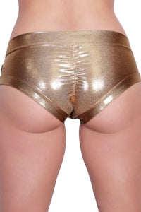 Metallic Hot Pants in Rose Gold