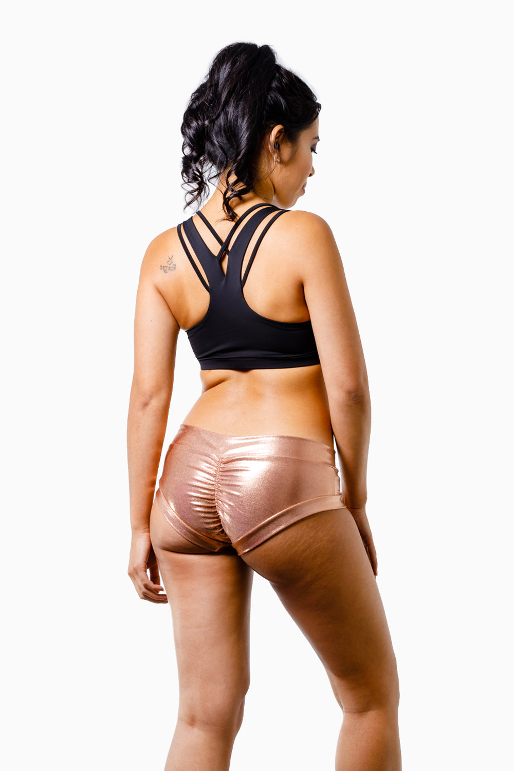 ALL THE FEELS: Rose Gold Hot Pants - CLEO THE HURRICANE