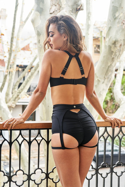 ALL THE FEELS: Scarlett Top in Black - LUNA POLEWEAR LUNALAE