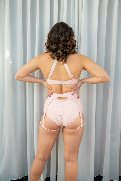 ALL THE FEELS: Scarlett Top in Blush - LUNALAE LUNA POLEWEAR