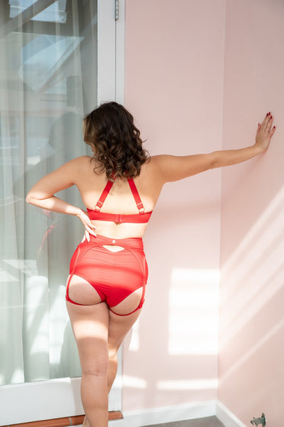 ALL THE FEELS: Scarlett Top in Red - LUNALAE LUNA POLEWEAR