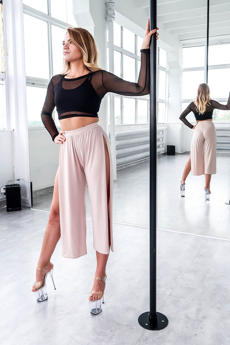 ALL THE FEELS: Sensual Split Pants in Nude - REV ACTIV