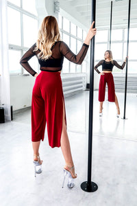 ALL THE FEELS: Sensual Split Pants in Wine - REV ACTIV