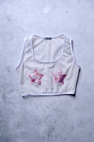 ALL THE FEELS: Sparkle Stars Sleeveless Top - KOSH LAB