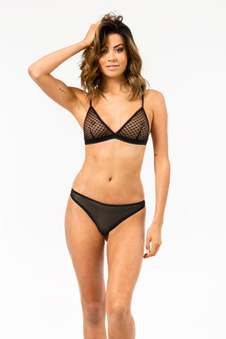 Spline Bralette in Black FINAL SALE
