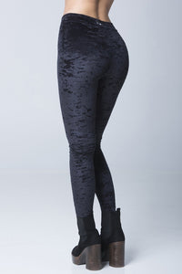 ALL THE FEELS: Stardust Velvet Leggings in Black - RAD POLEWEAR