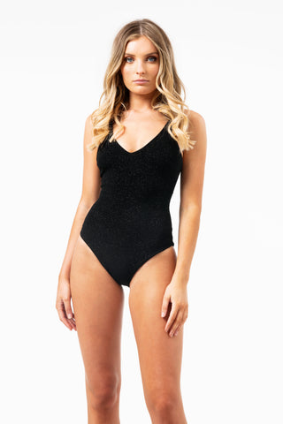 AALL THE FEELS: Stardust Bodysuit in Black - LUNA POLE WEAR