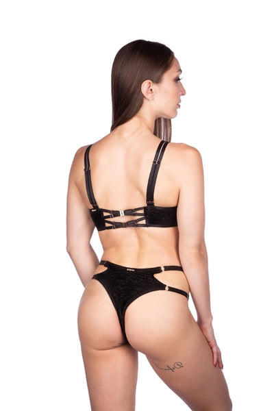 ALL THE FEELS: Stargazer Bottoms Black - NAUGHTY THOUGHTS