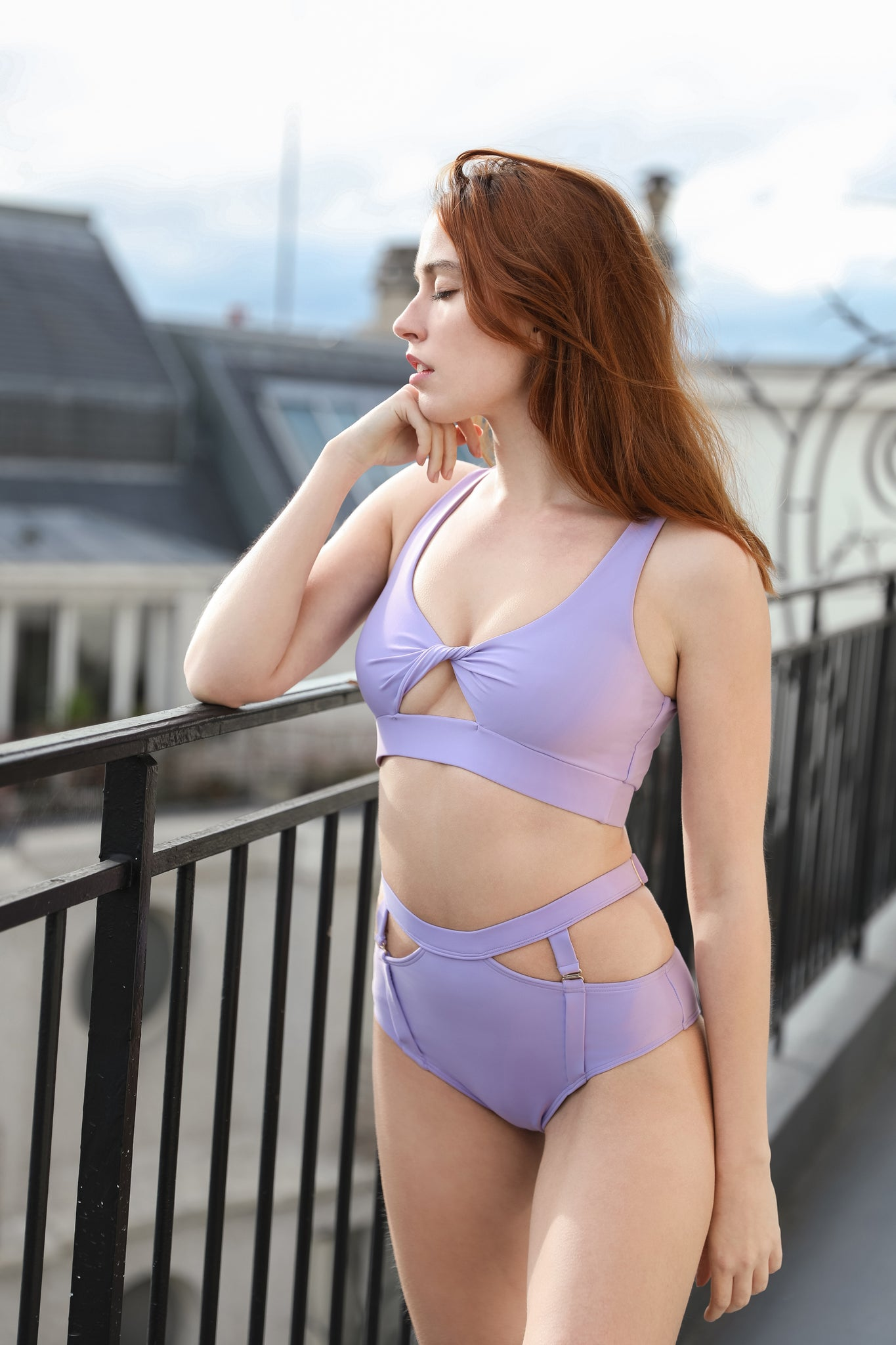 ALL THE FEELS: Tulip Shorts Violet  - CHANTAY POLEWEAR