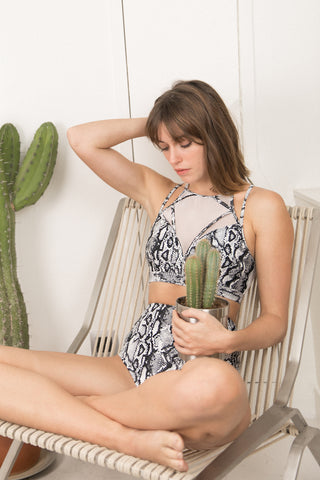 ALL THE FEELS: Vortex Top in Snake - CHANTAY POLEWEAR