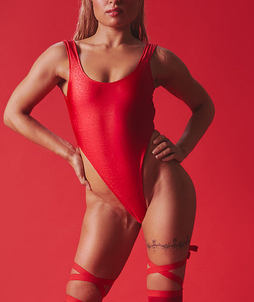 ALL THE FEELS: Wild Bodysuit in Red - ROLLING BRAND