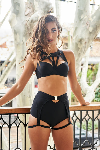 ALL THE FEELS: Zara High Waisted Bottoms in Black - LUNA POLEWEAR LUNALAE