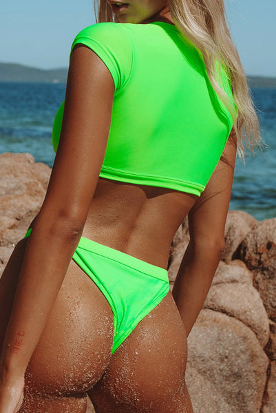 Indie Top in Neon Green