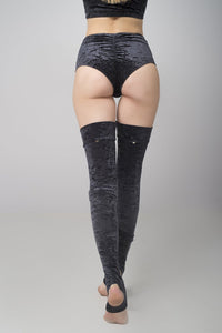 Velvet Leg Warmers in Black
