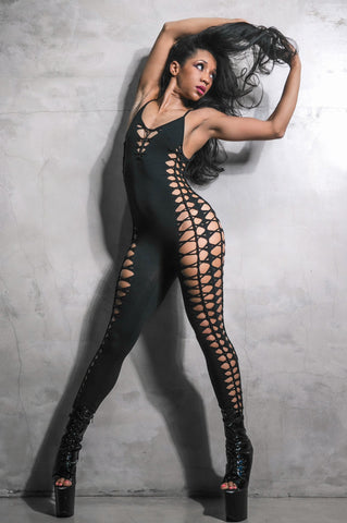 Spider Catsuit in Black