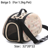 Lovely Floral Soft EVA Outdoor Travel Portable Dog Carriers Folding Pet Bag For Small Dogs Breathable FTT