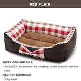 Double-side Usable Waterproof Liner Pet Bed with Cute Bowknot for All Season