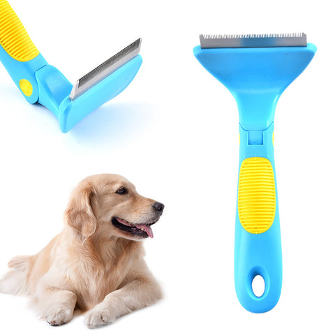 stainless steel practical multi-function simple open knot comb double-sided pet dog grooming comb