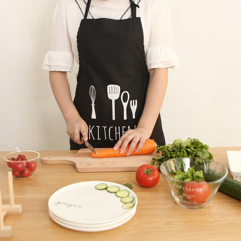 Spoon fork apron creative cotton canvas apron kitchen supplies