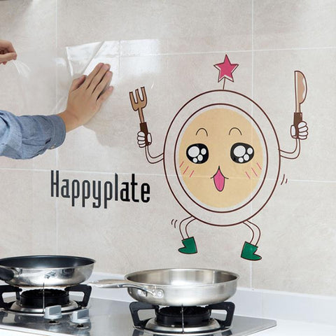 Waterproof Aluminum Foil Ceramic Tile Household Sticker Oil Proof Kitchen