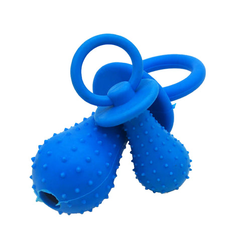 【Random color】Pet supplies TPR pet toy rubber bite toy pacifier pet toy molars vocal rubber ball