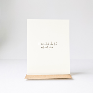 Life Without You Card