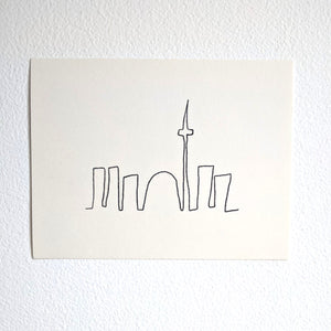 Mini Skyline Postcard