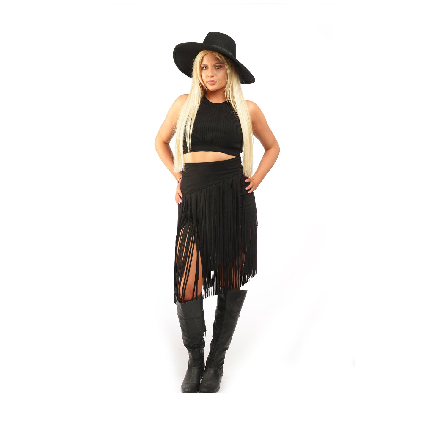 Get Out Of The Sway Fringe Skirt