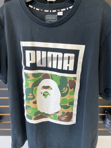 BAPE X Puma ABC Camo Logo Tee Black Youth (Used)