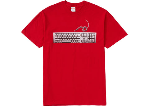 Supreme Keyboard Tee Red