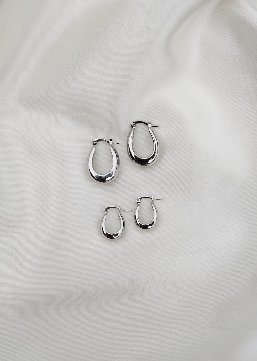 REIN ACCESSORIES | Drop Earrings - Silver