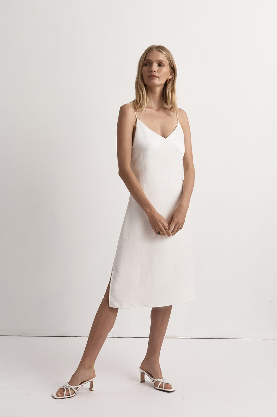 FRIEND OF AUDREY | Fayette Contrast Satin Dress