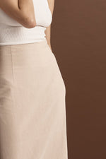 FRIEND OF AUDREY | Essentials Linen Midi Skirt