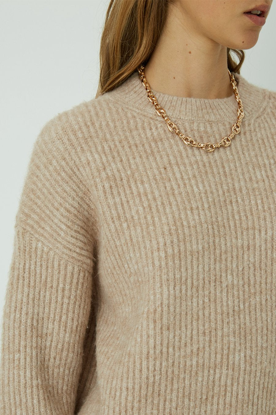 FRIEND OF AUDREY | Freja Round Neck Knit Jumper