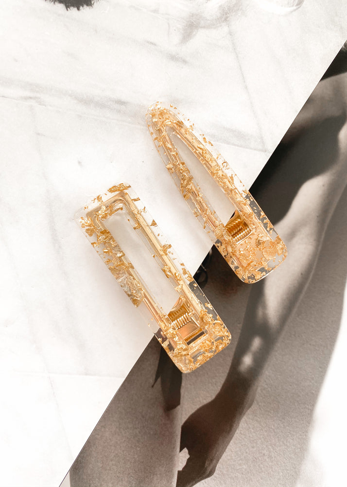 REIN ACCESSORIES | Gold Leaf Hair Clip