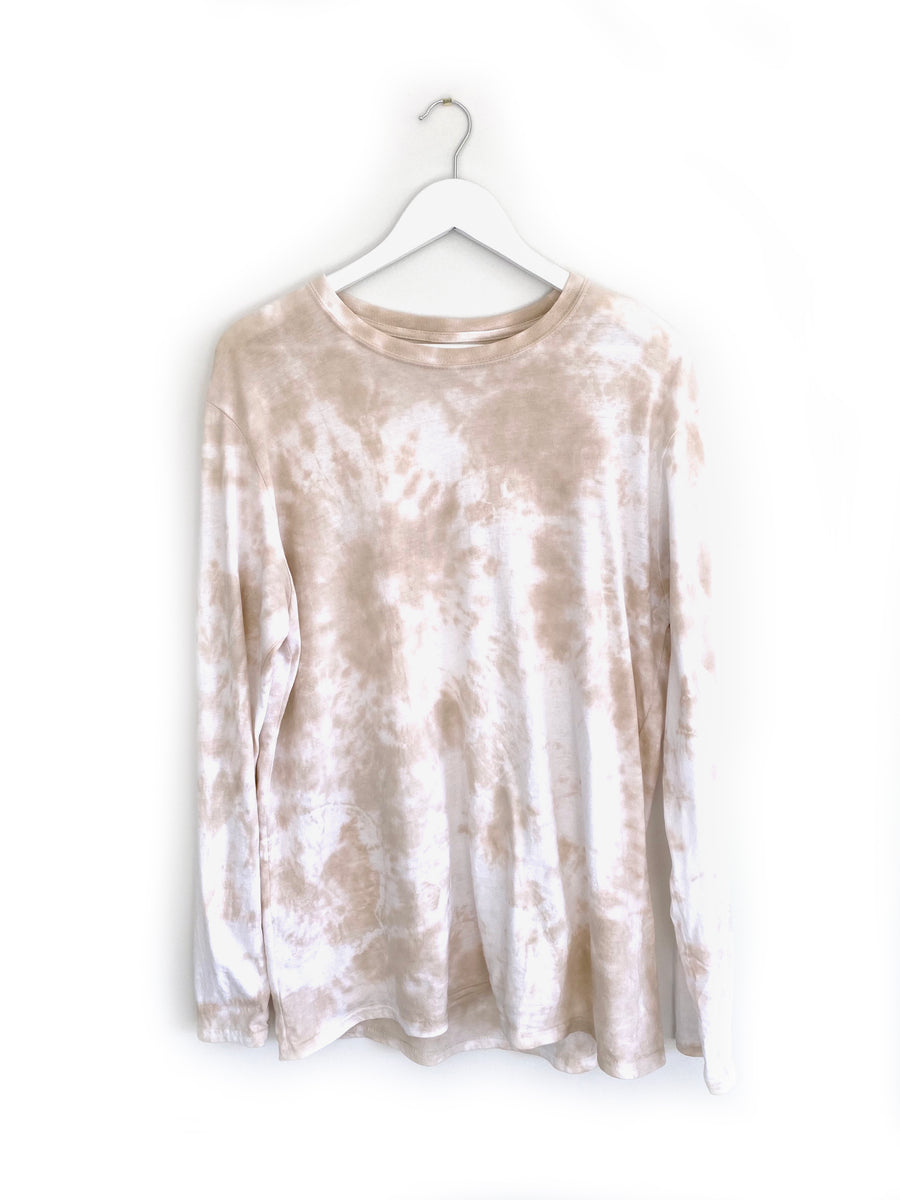 REIN | Taupe Tie Dye L/S Top