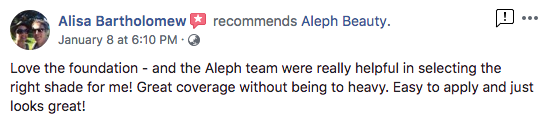 Aleph glowing review