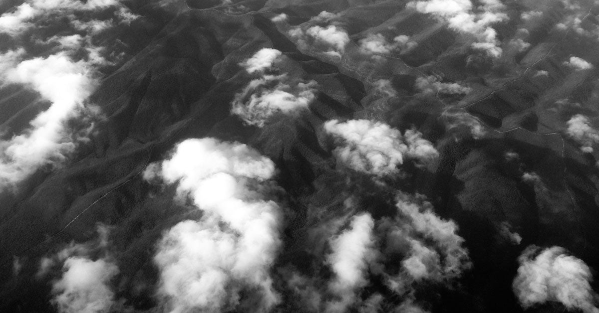 Aerial view of clouds, synthetic fragrance