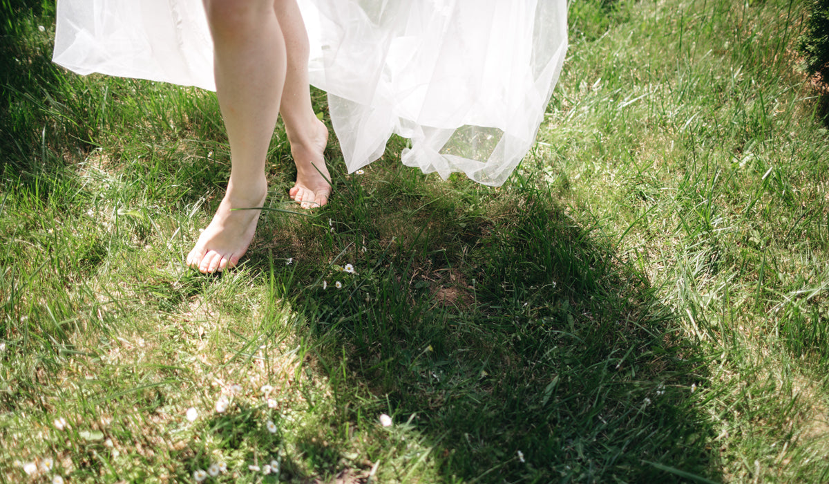 managing stress during a crisis barefoot on the grass