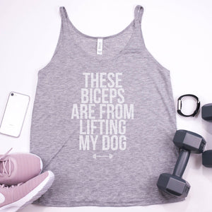These Biceps Are From Lifting My Dog Womens Flowy Tank-Top