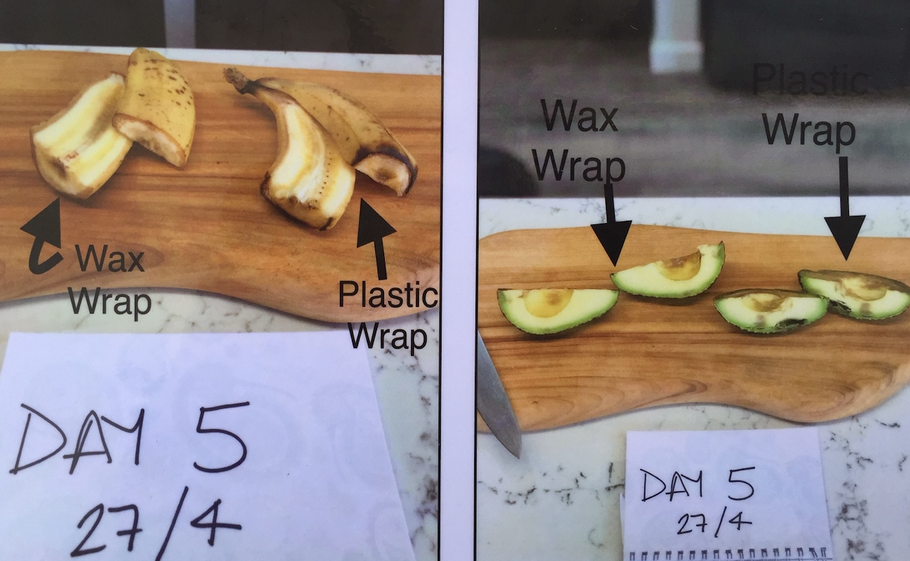 Beeswax wraps keep produce fresher.
