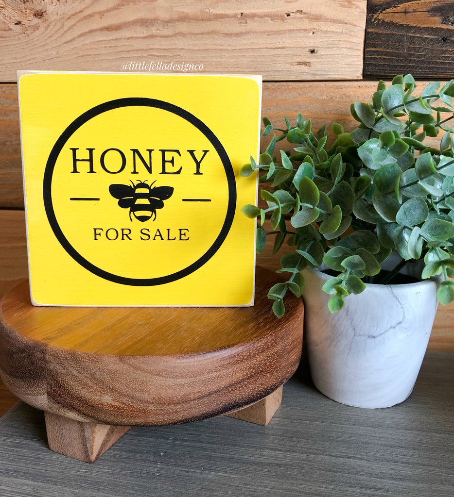 Honey Bee Collection, Tiered Tray Decor, Mini Wood Signs