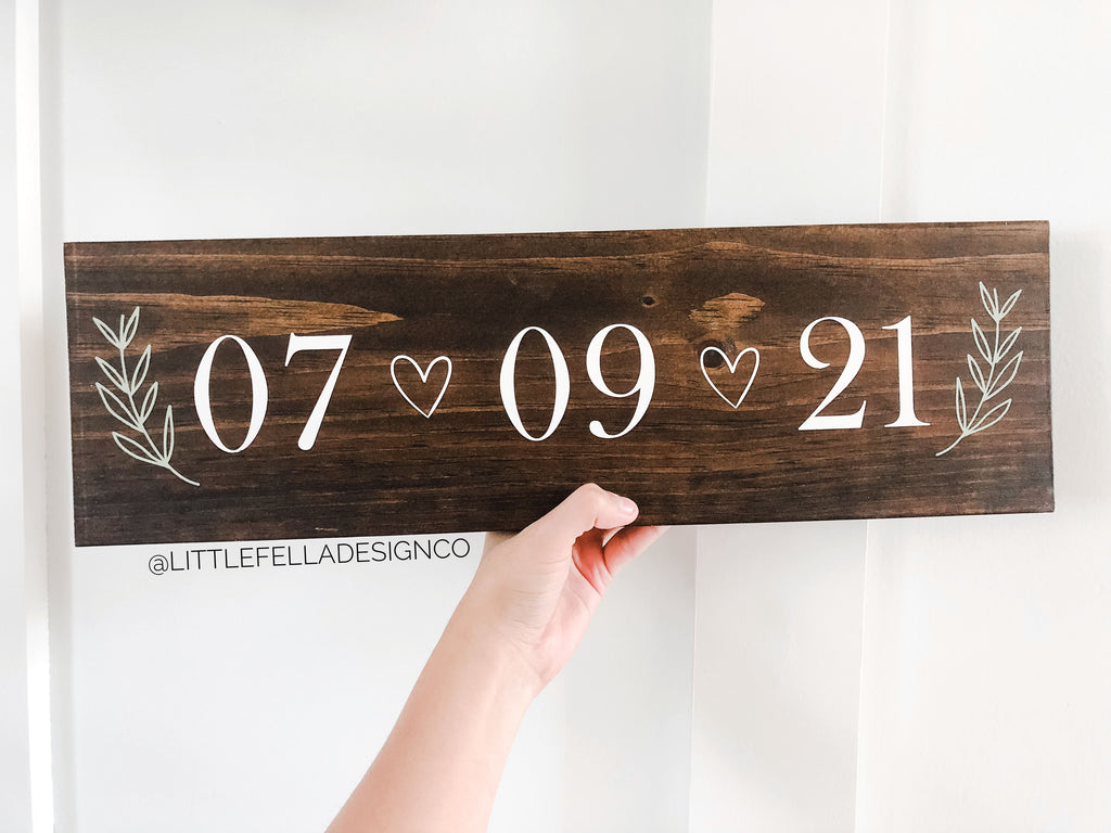 Save the Date Sign, Wedding Announcement Sign, Engagement Photo Prop, Rustic Wedding Decor