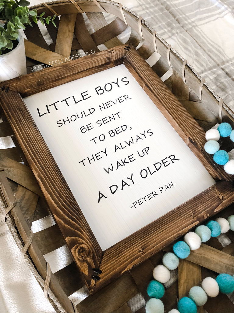 Peter Pan Inspired Nursery Sign, Nursery Decor