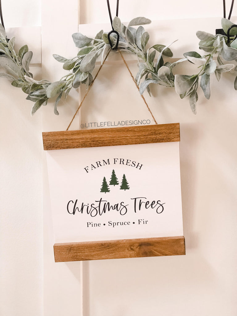 Farm Fresh Christmas Trees Hanging Wood Sign, Farmhouse Christmas, Christmas Decor